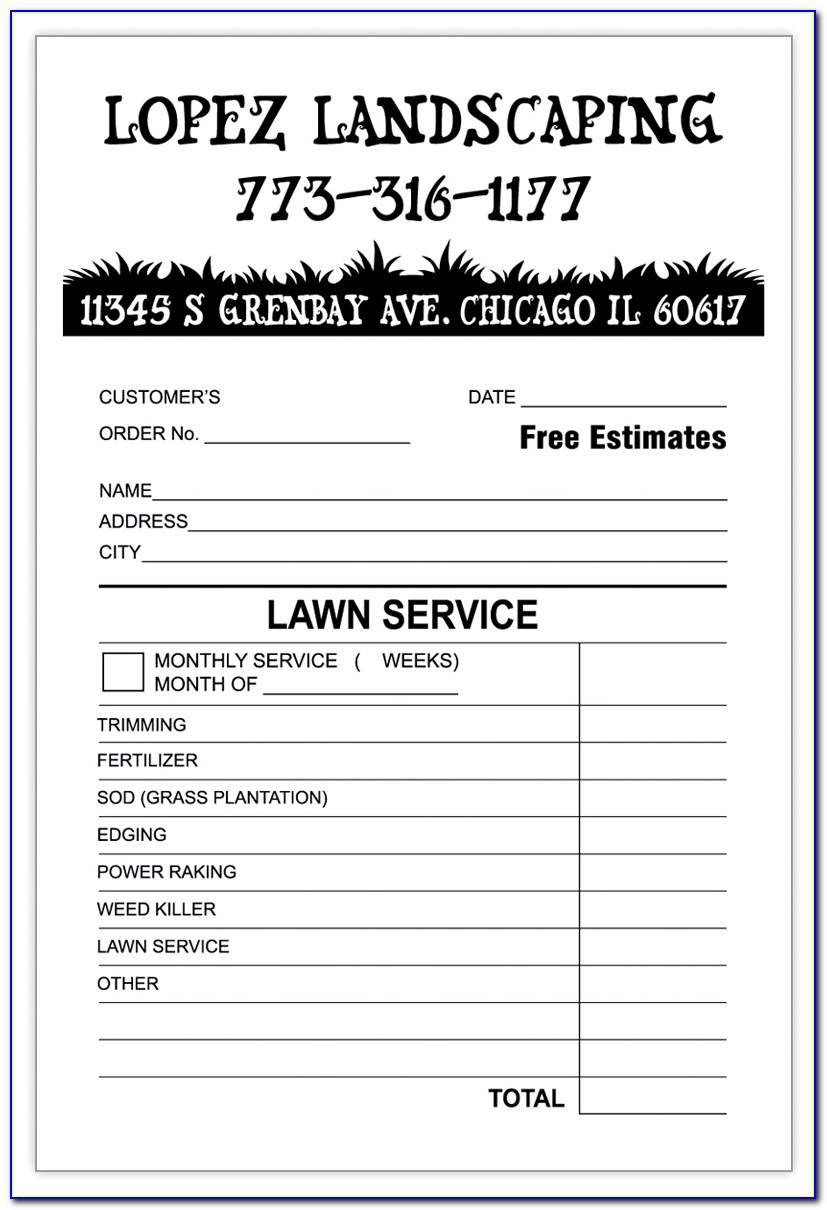 Lawn Mowing Service Invoice