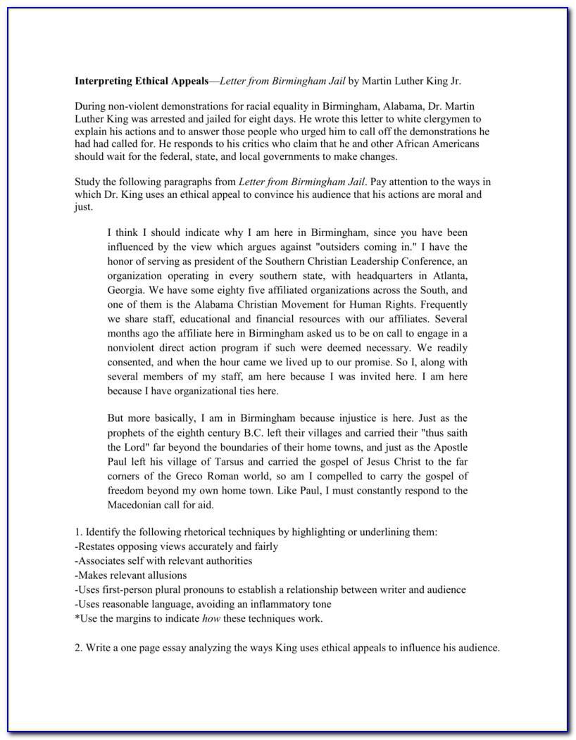 Letter From Birmingham Jail Theme