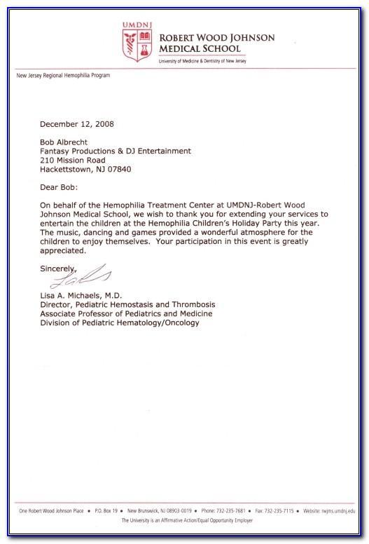 Letter Of Recommendation For Medical Assistant Externship