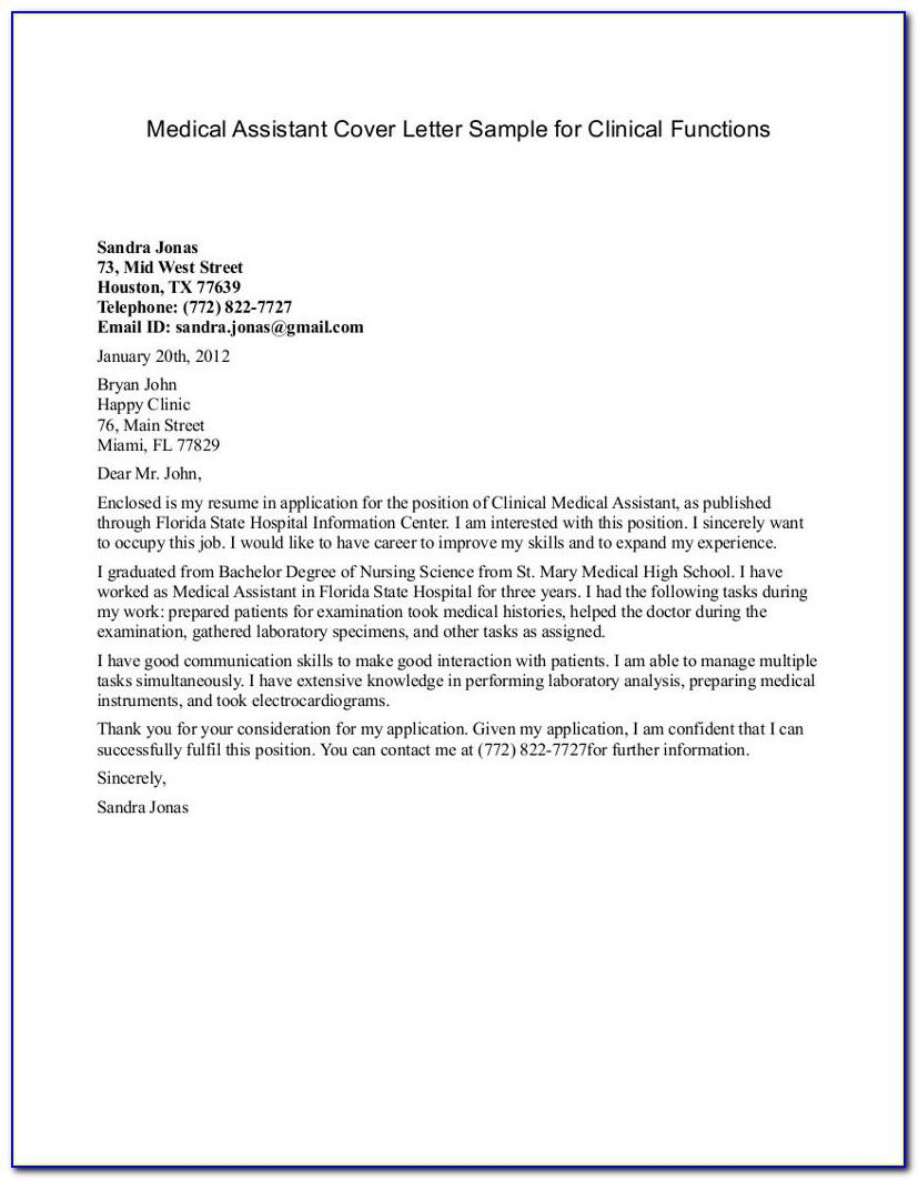 Letter Of Recommendation For Medical Assistant From Doctor