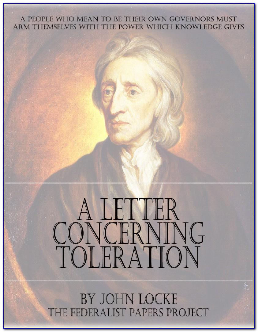 Letter On Toleration John Locke
