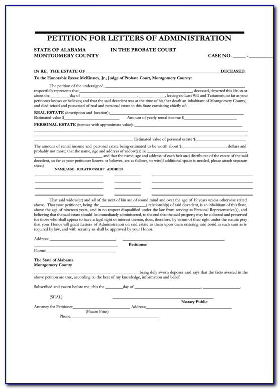 Letters Of Administration Ny Forms