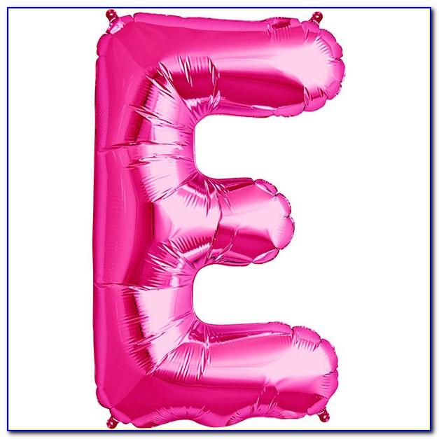 Light Pink Letter Balloons
