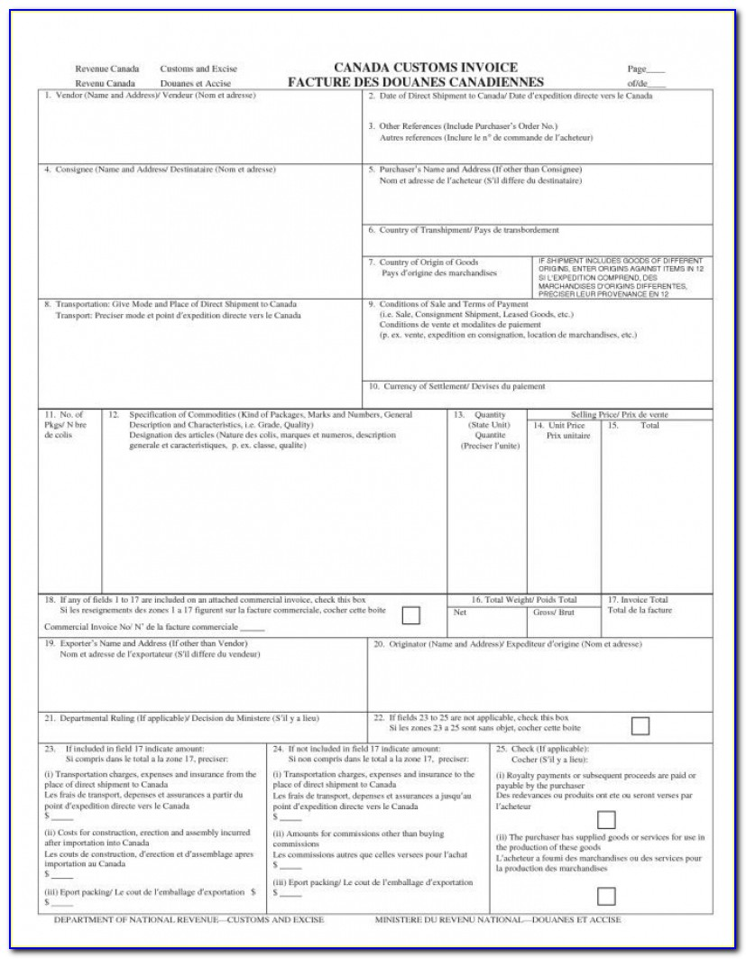 Livingston Us Customs Invoice