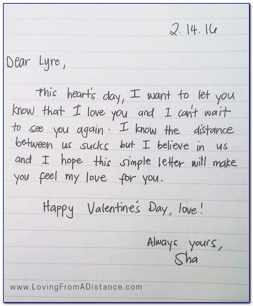 Long Distance Love Letters For Him