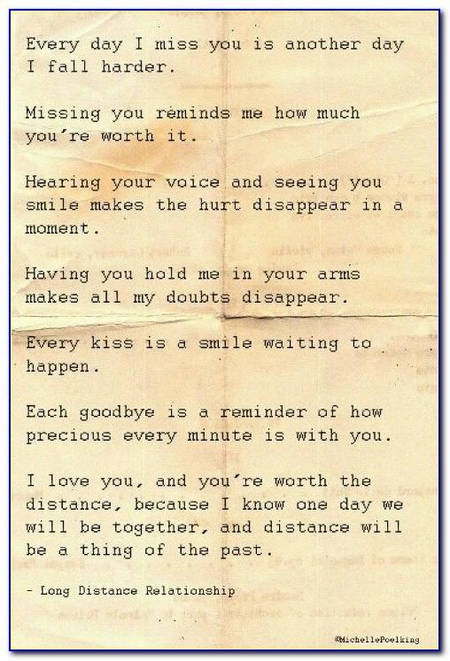 Long Distance Love Letters To Boyfriend