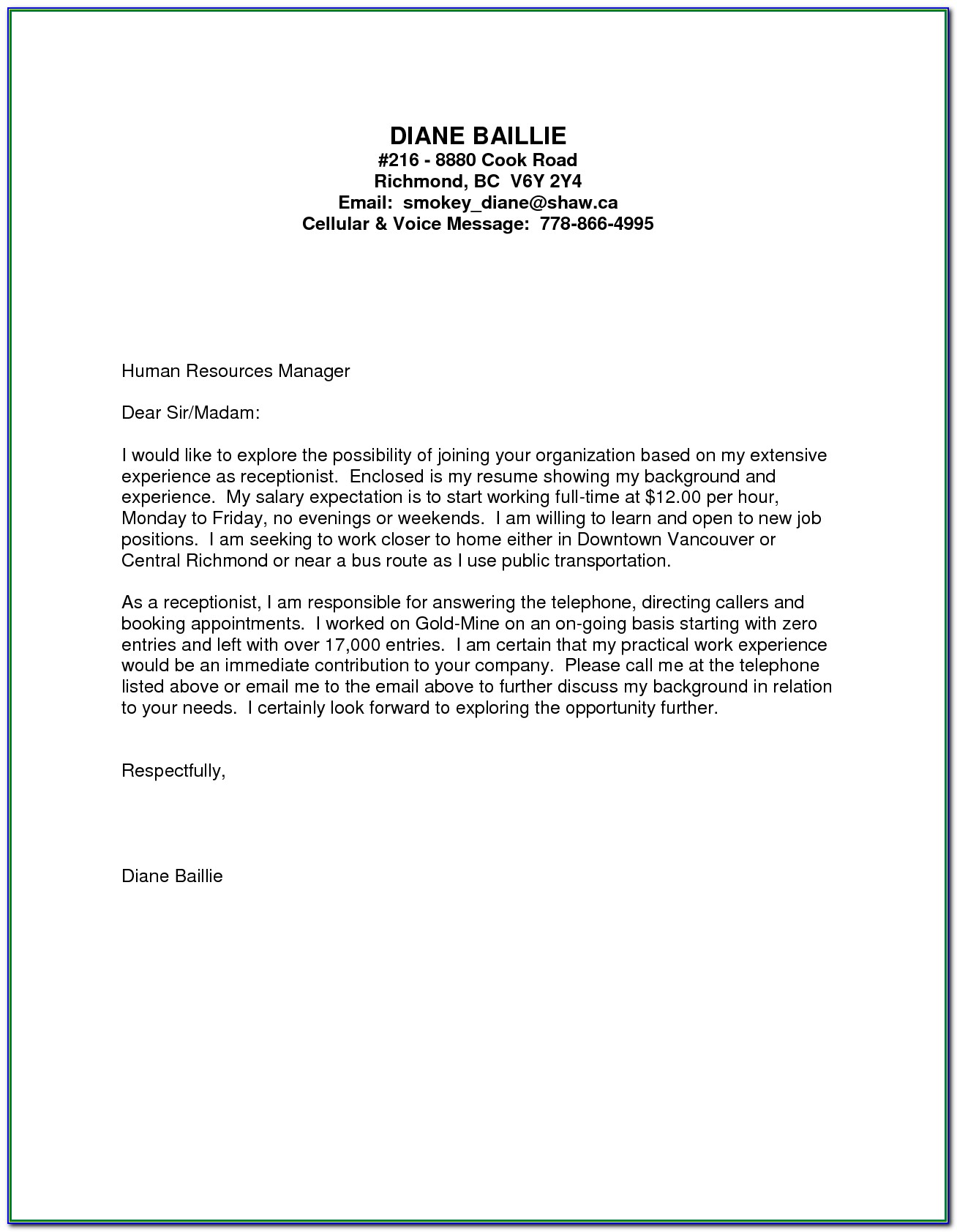 Medical Assistant Cover Letter Examples For Resume