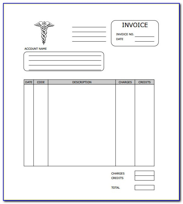 Medical Records Fee Invoice Template
