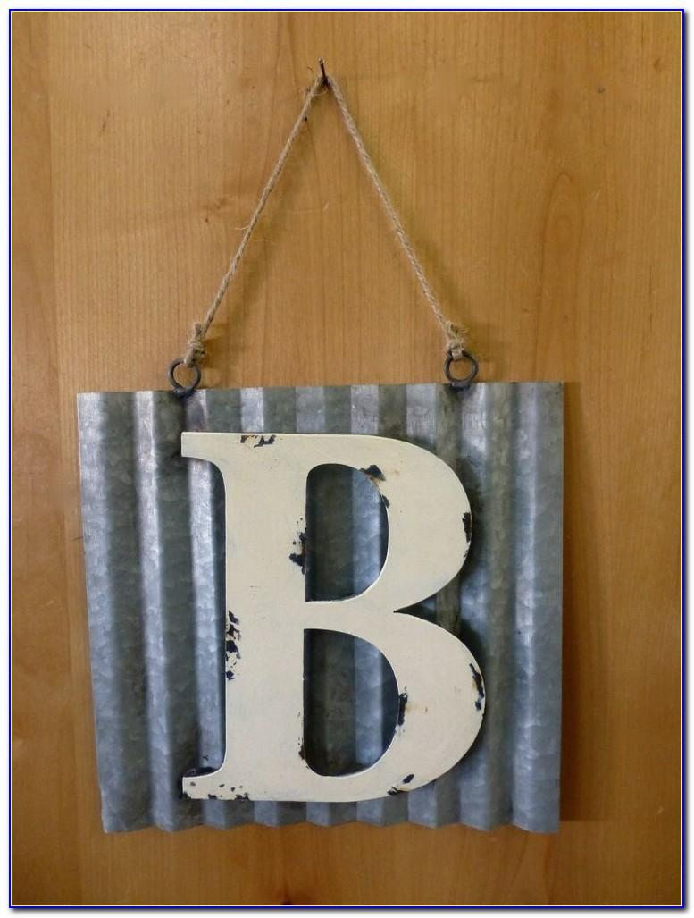 Metal Hanging Letters Wall Decor