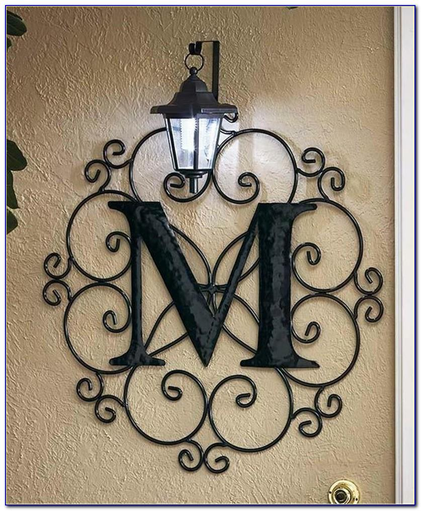 Metal Initial Letters Wall Decor