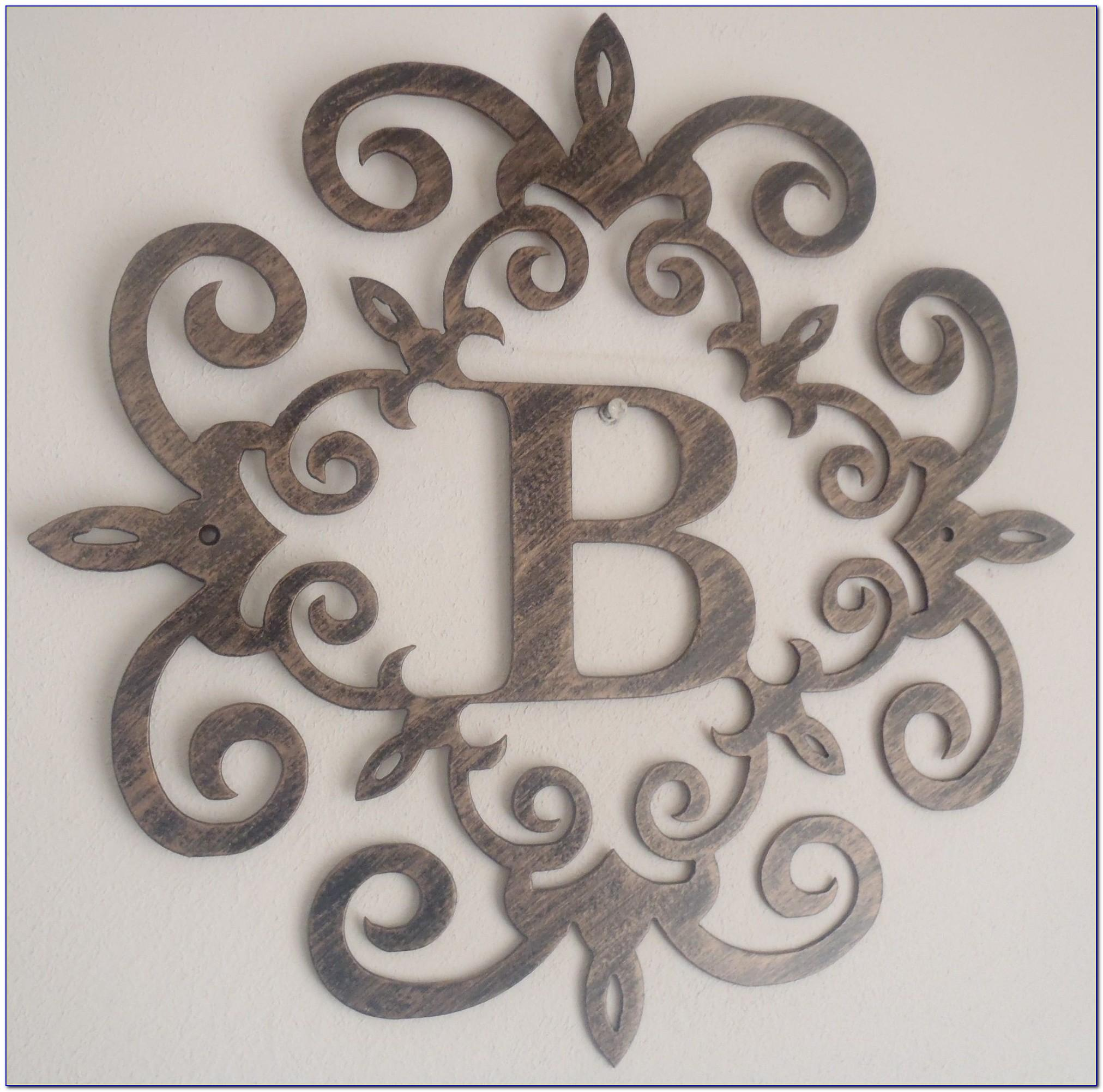 Metal Letter B Wall Decor