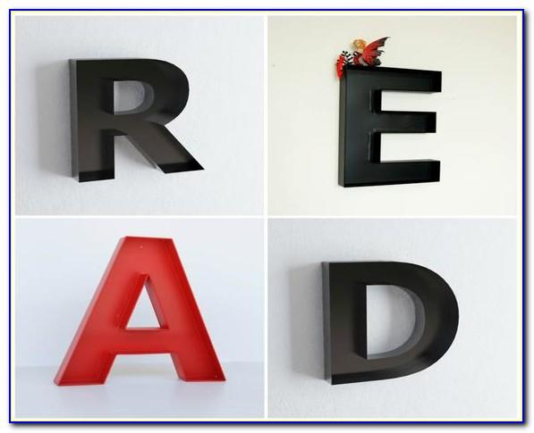 Metal Letter D Wall Decor