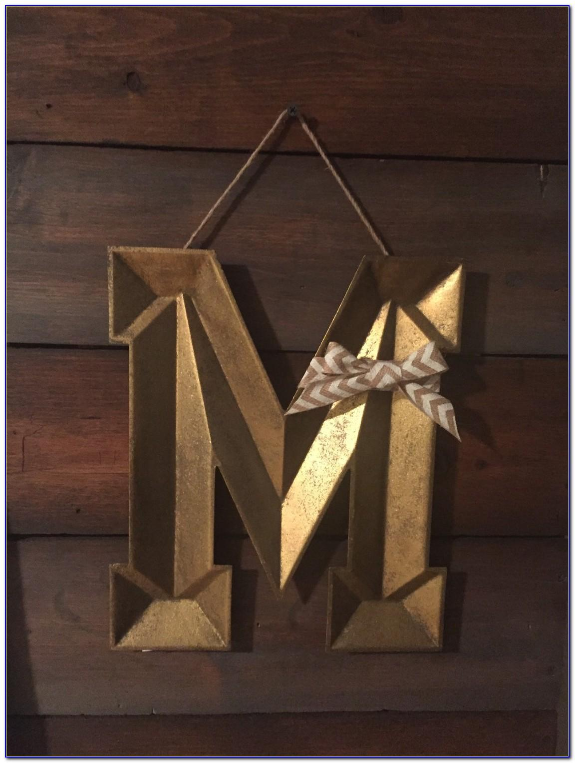 Metal Letter M Wall Decor