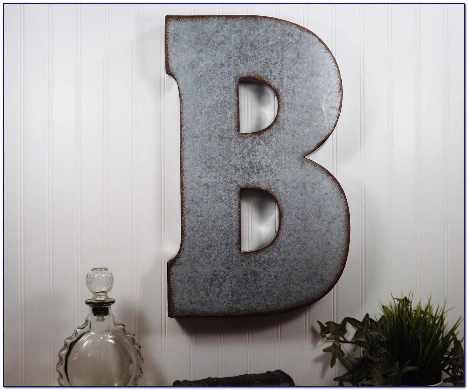 Metal Letters For Wall Decor Uk