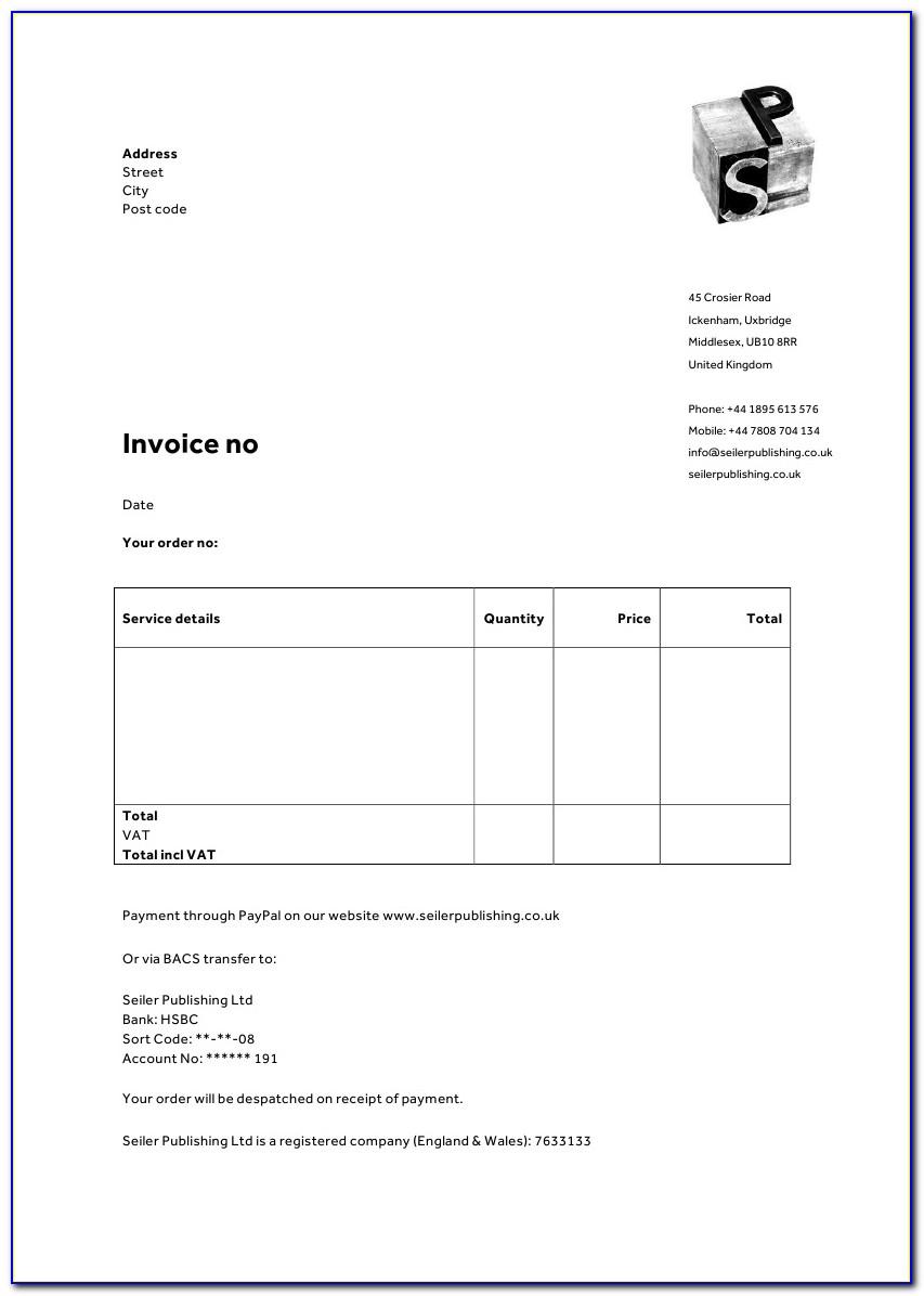 Microsoft Word Blank Invoice Template