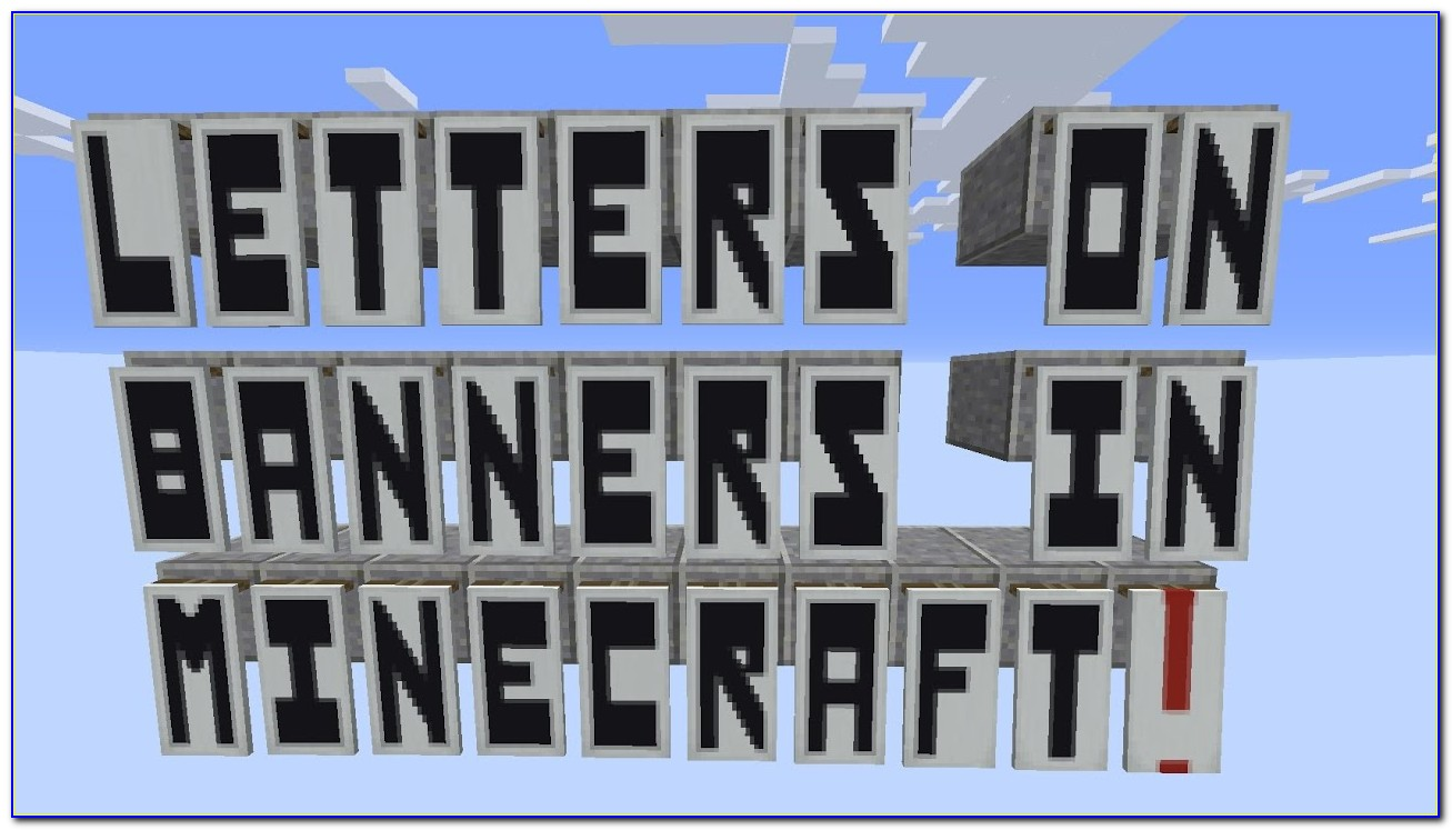 Minecraft Banner Letters Commands