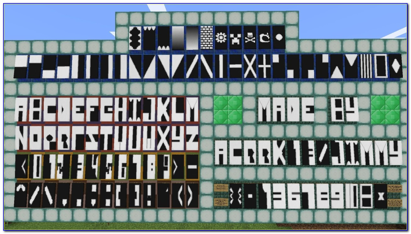 Minecraft Banner Letters D