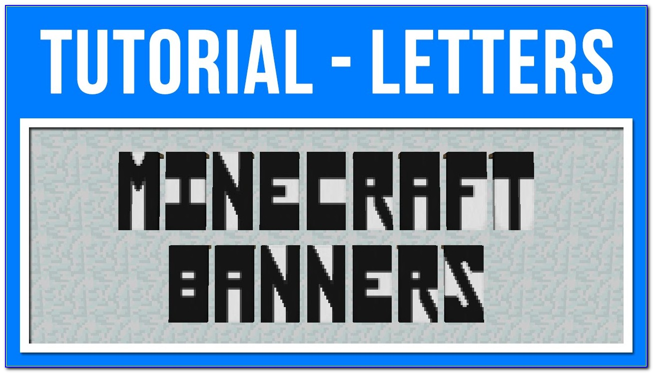 Minecraft Banner Letters M