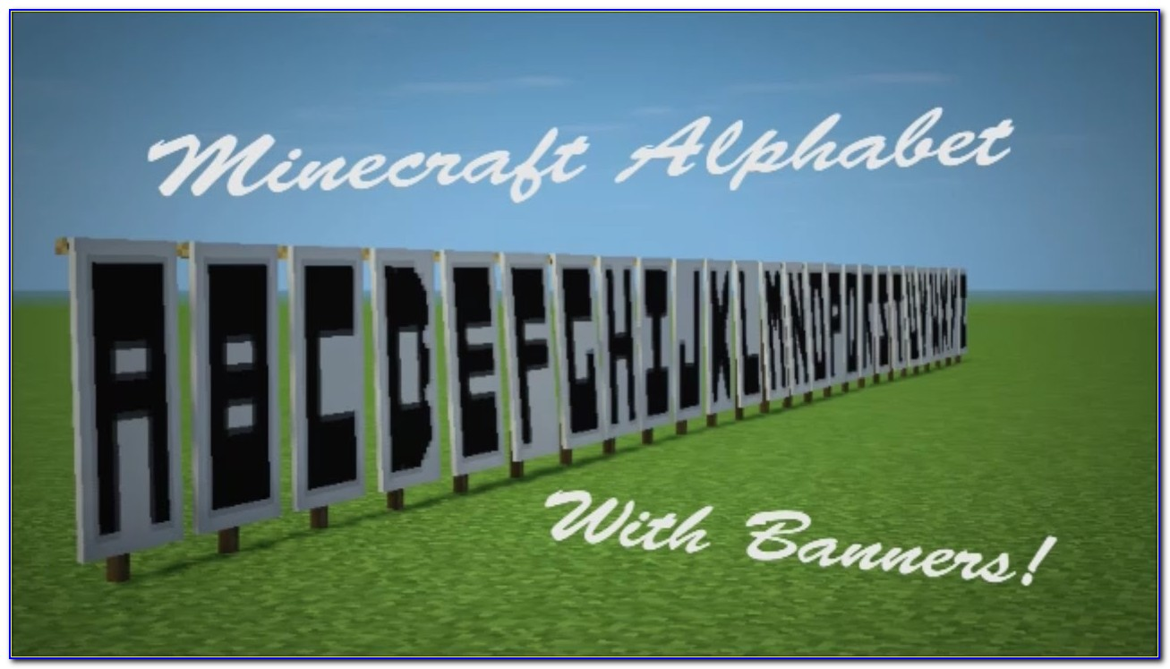 Minecraft Banner Letters S