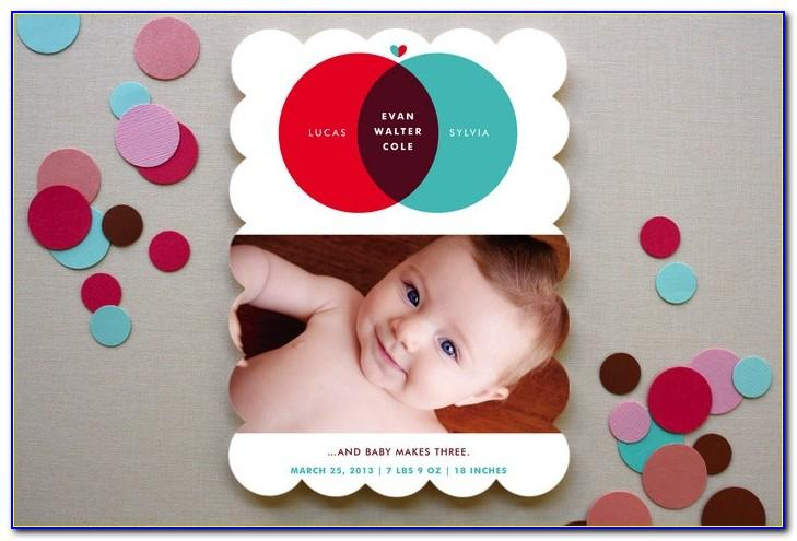 Minted Birth Announcement Holiday