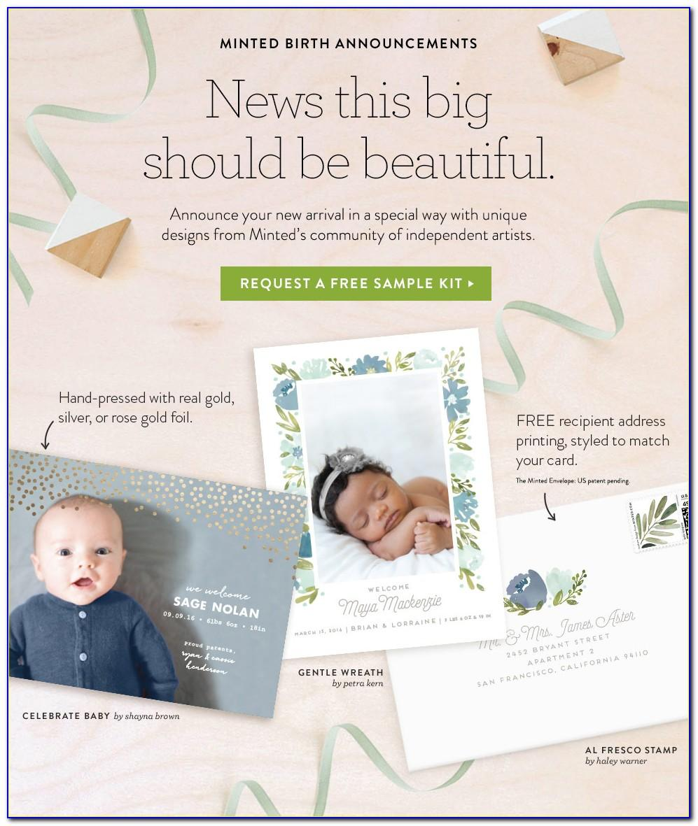 Minted Birth Announcement Magnet
