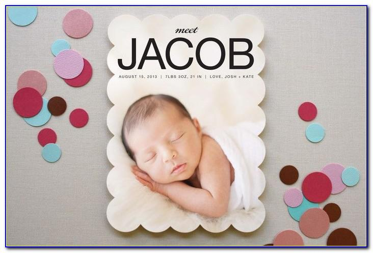 Minted Birth Announcements Twins