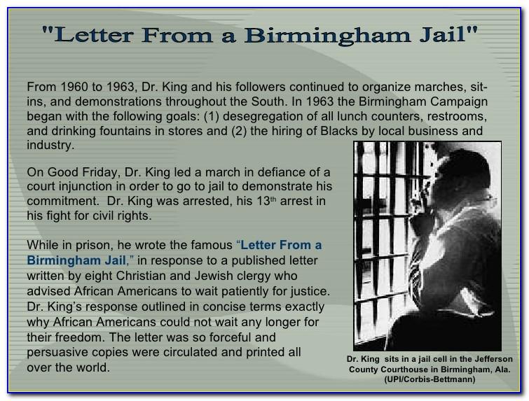 Mlk Letter From Birmingham Jail Audience