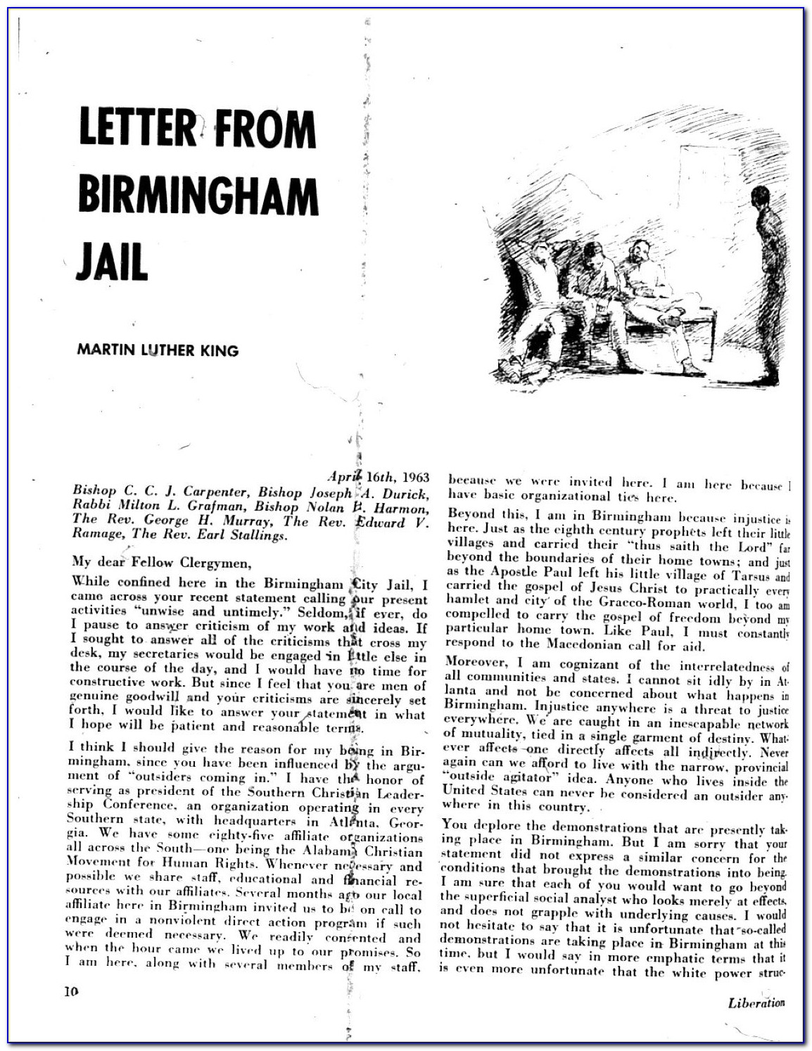 Mlk Letter From Birmingham Jail Pdf