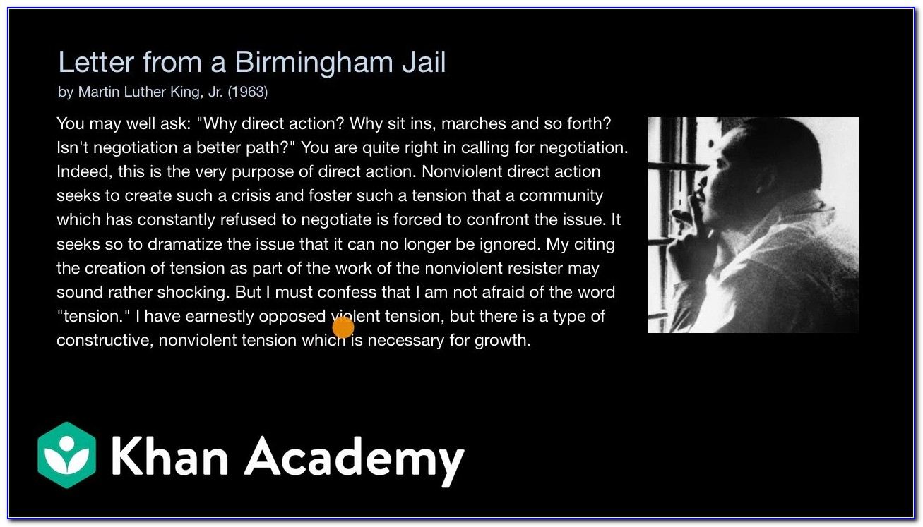 Mlk Letter From Birmingham Jail Thesis