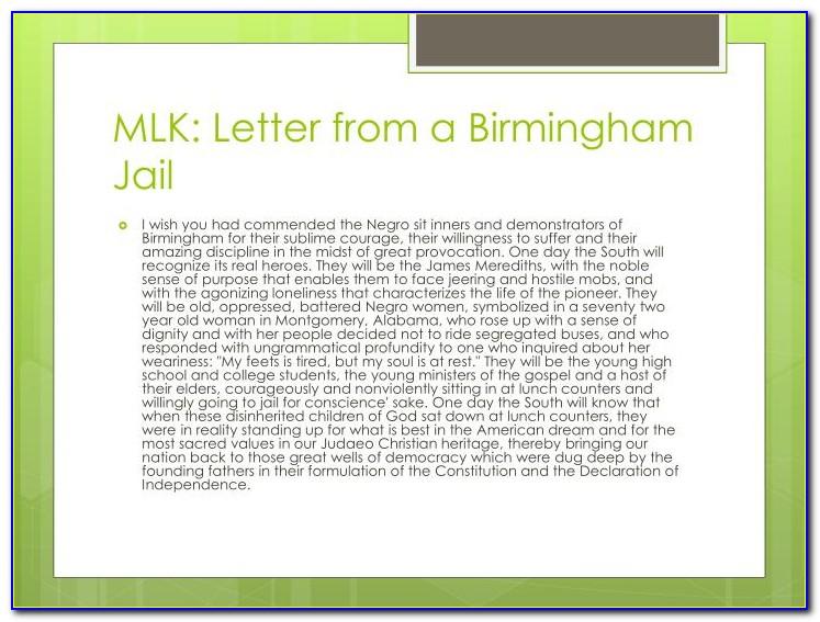 Mlk Letter From Birmingham Jail White Moderate