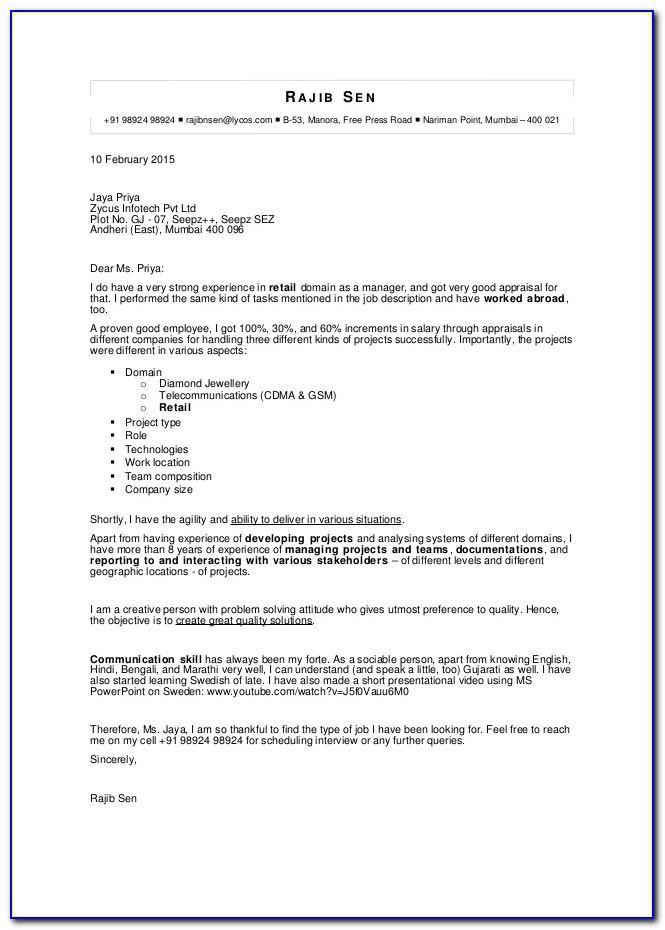 N400 Cover Letter Sample