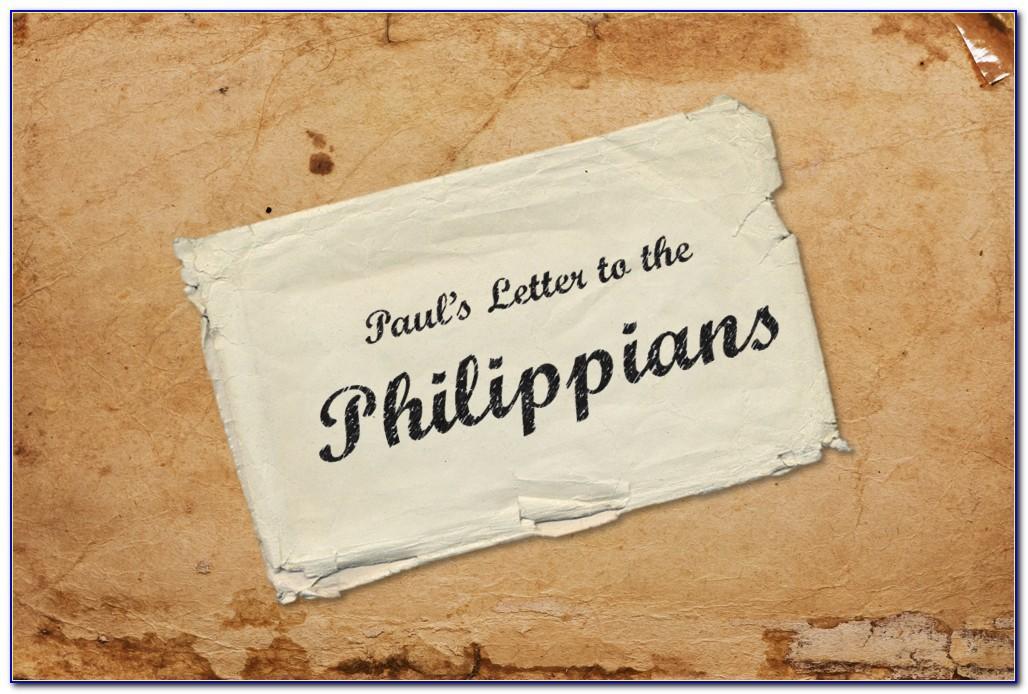 Paul's Letter To The Philippians Catholic