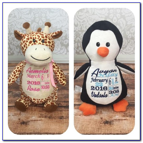 Personalized Birth Announcement Stuffed Animals