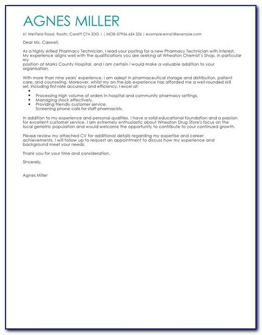 Pharmacy Technician Letter Law Ce