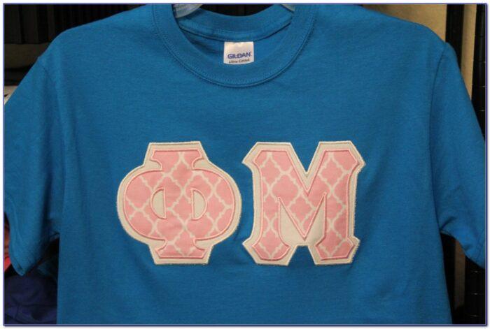 Phi Mu Letter Shirts