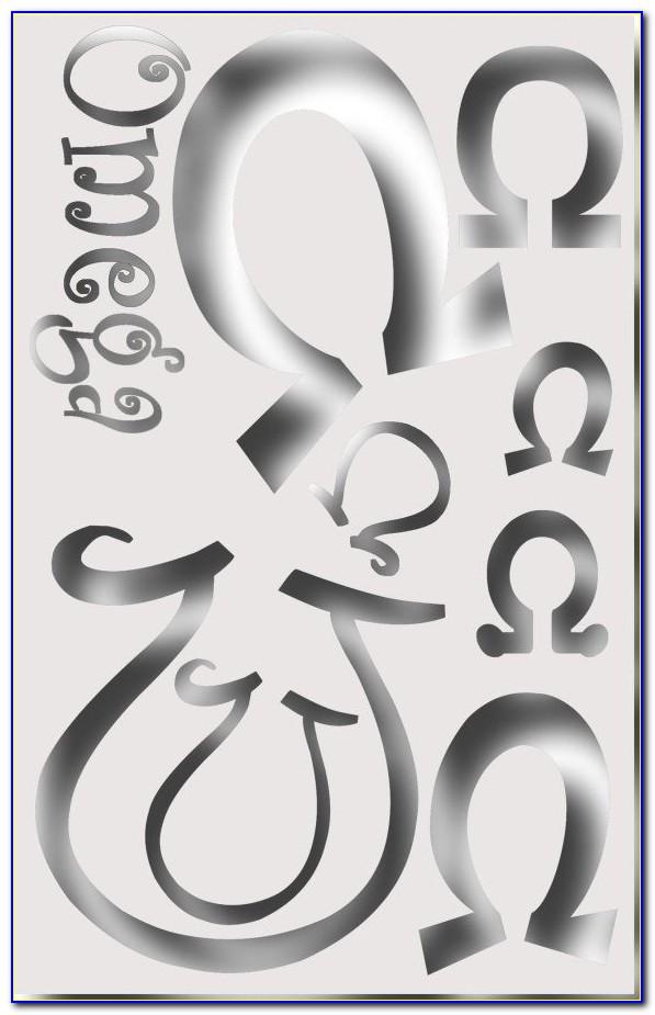 Phi Mu Letter Stencils