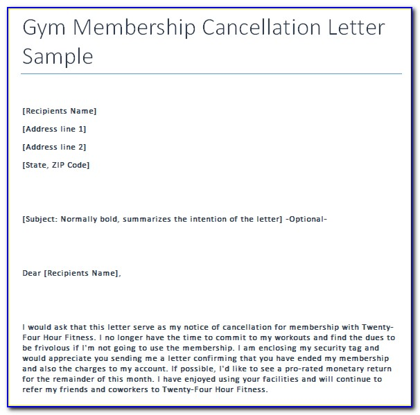 Planet Fitness Cancellation Letter Reddit
