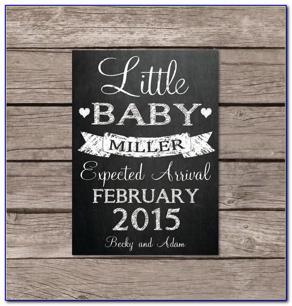 Pregnancy Announcement Chalkboard Ideas