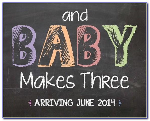 Pregnancy Announcement Chalkboard Sign