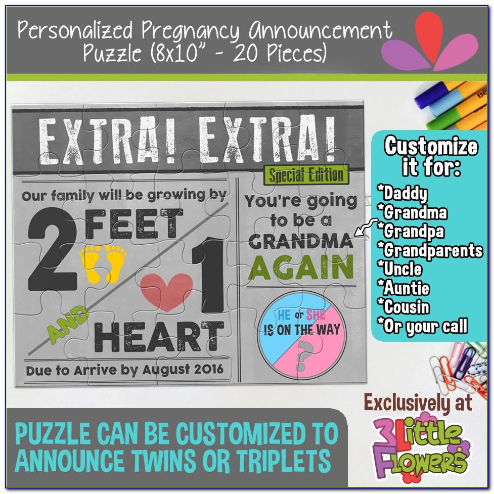 Pregnancy Announcement Jigsaw Puzzle