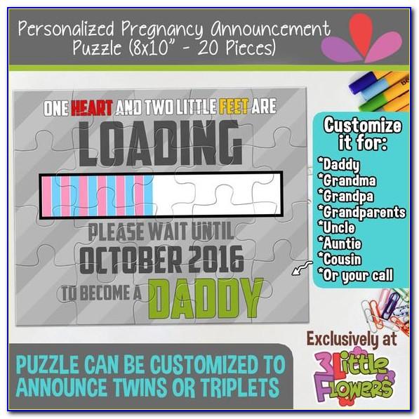 Pregnancy Announcement Word Puzzle