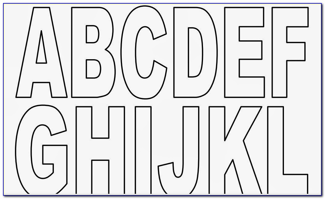 Printable Block Letters Large