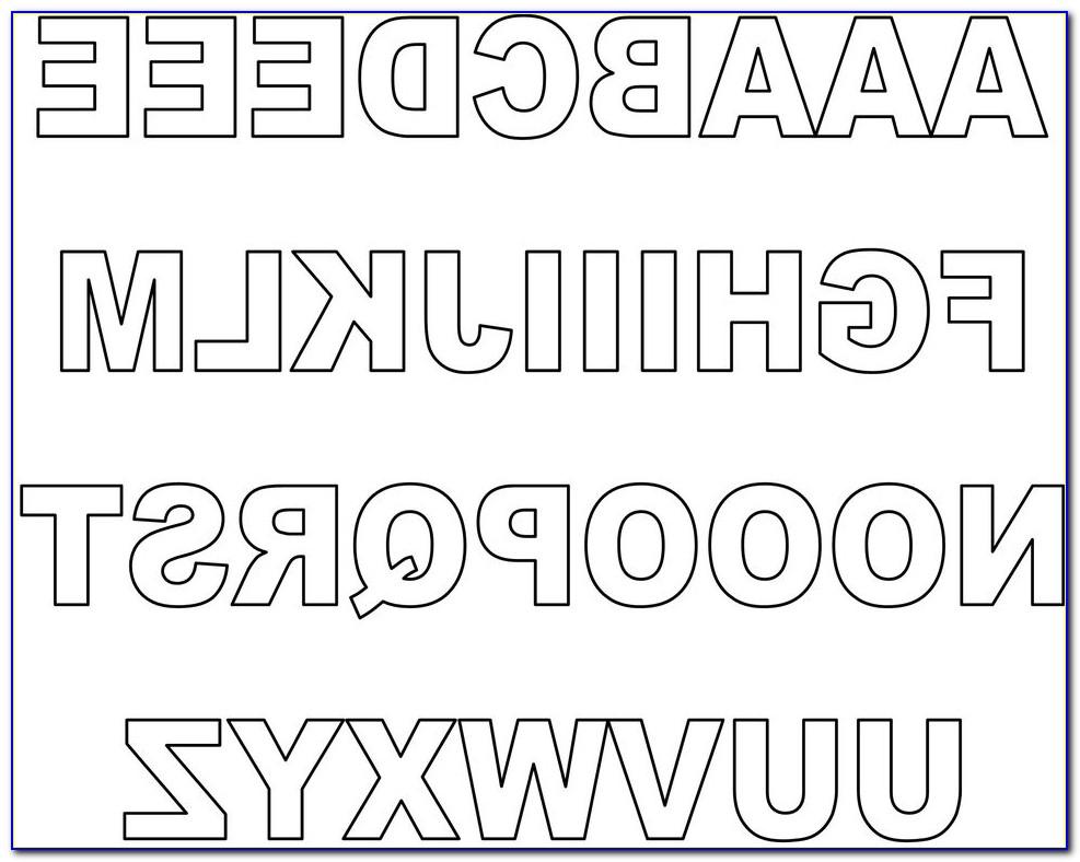 Printable Block Letters Pdf