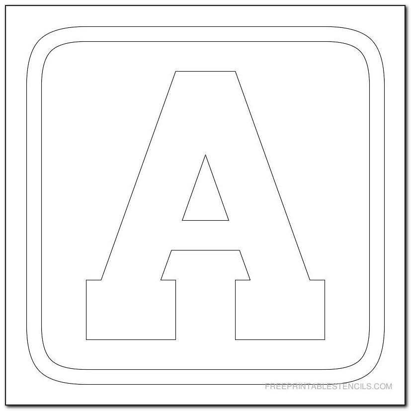 Printable Block Letters To Color