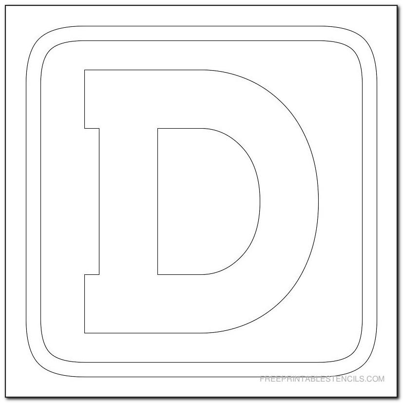 Printable Cursive Letter Stencils Large
