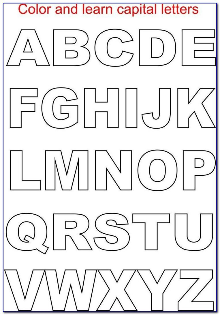 Printable Cut Out Letters Stencils