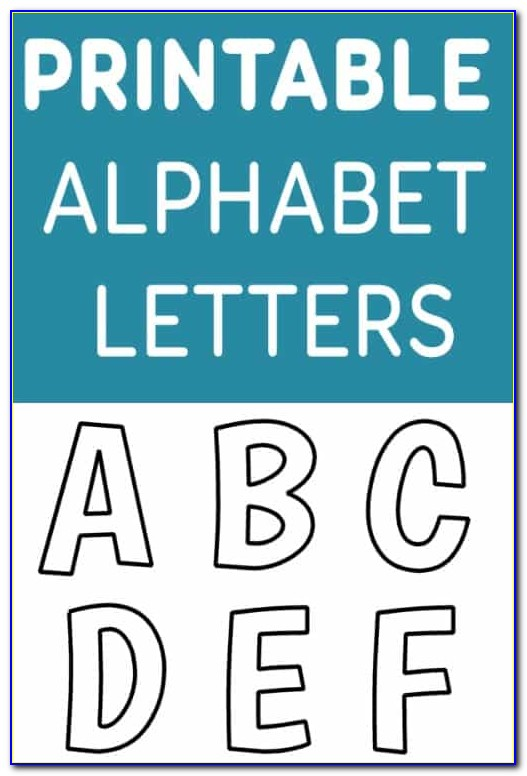 Printable Letter Stencils 4 Inch