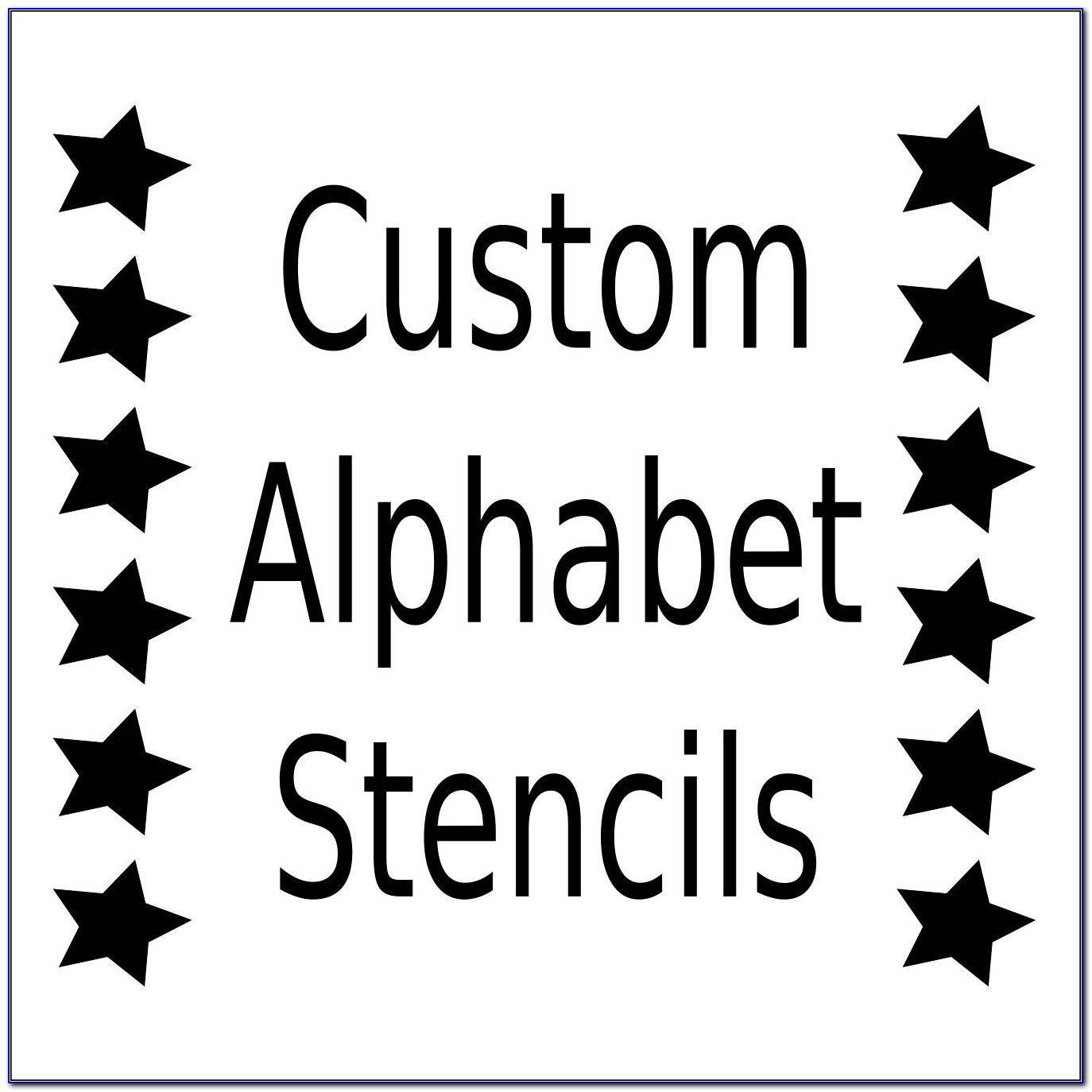 Printable Letter Stencils 6 Inch
