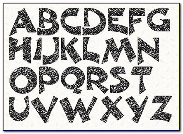 Printable Letter Stencils Free