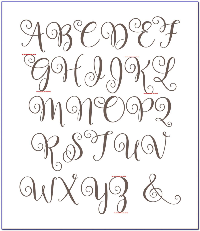 Printable Letter Stencils Large